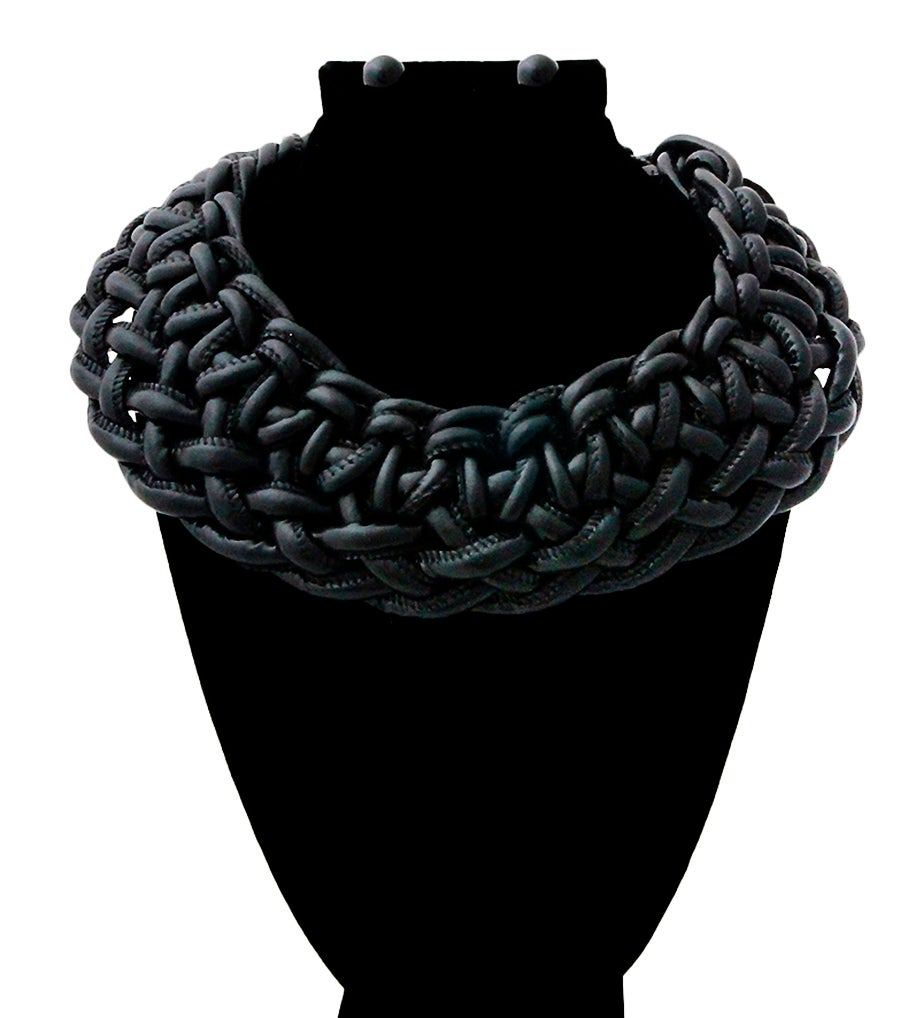 Image of Leather Woven Choker