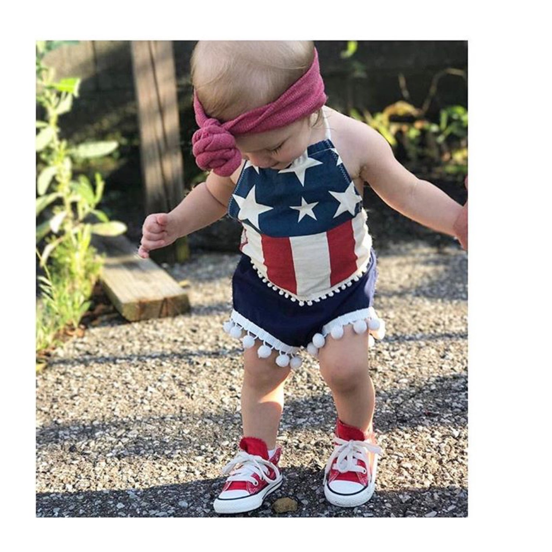 Image of American Flag Halter Top