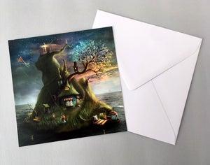 """Felicias Island"" set of 4 cards - Alexander Jansson Shop"