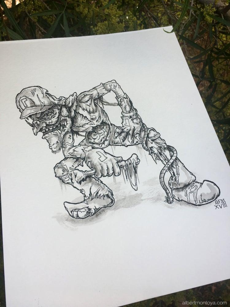 "Image of Original ""Undead Waluigi"" Illustration"