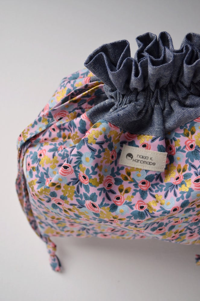 Image of Rosie - Handmade Drawstring Project Bag