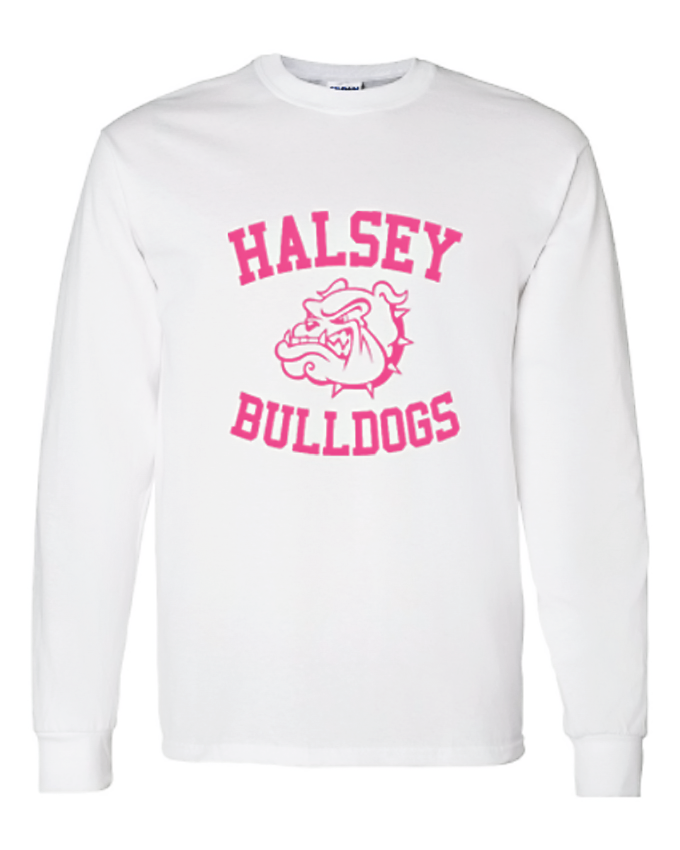 Image of HALSEY BULLDOGS LONG SLEEVE SHIRT PINK