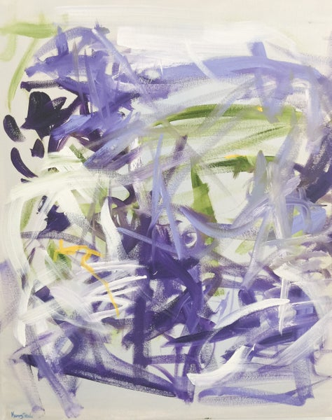 "Image of ""crocus"" 20 x 24 oil on canvas"