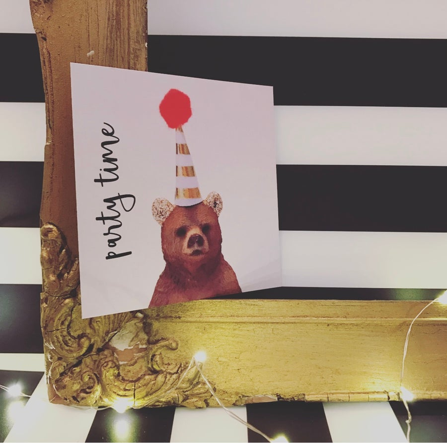 Image of PARTY INVITE BEAR