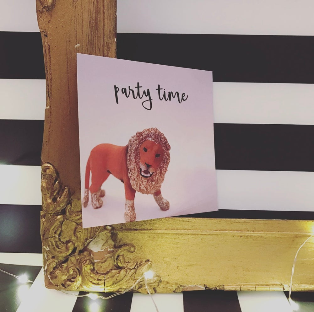 Image of PARTY INVITE LION