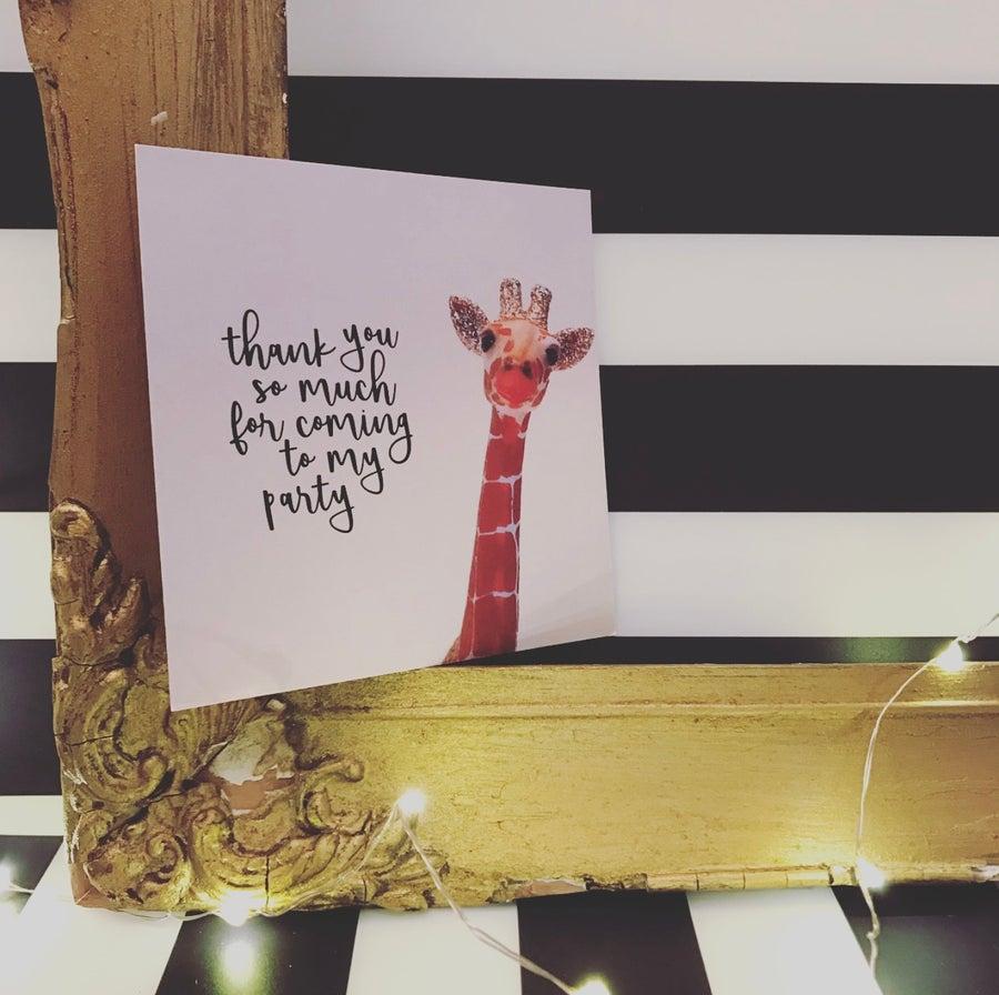 Image of THANK YOU GIRAFFE