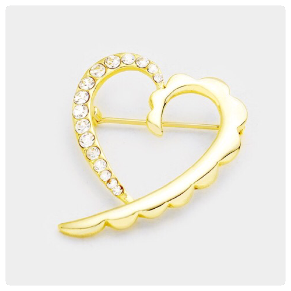Image of Heart of Gold Brooch