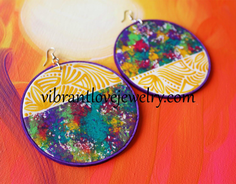 Image of Yellow Meadow Earrings