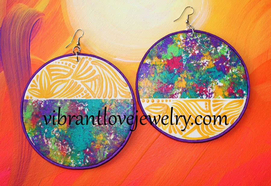 Image of Yellow Meadow Earrings