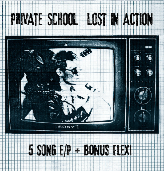 "Image of PRIVATE SCHOOL - ""Lost In Space"" 7"" EP + Flexi 7"" (1979) COMING 9/2018"