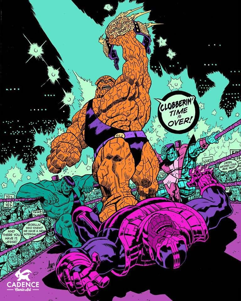 """Image of """"Clobberin' Time Is Over!"""" Print by Andy Belanger"""