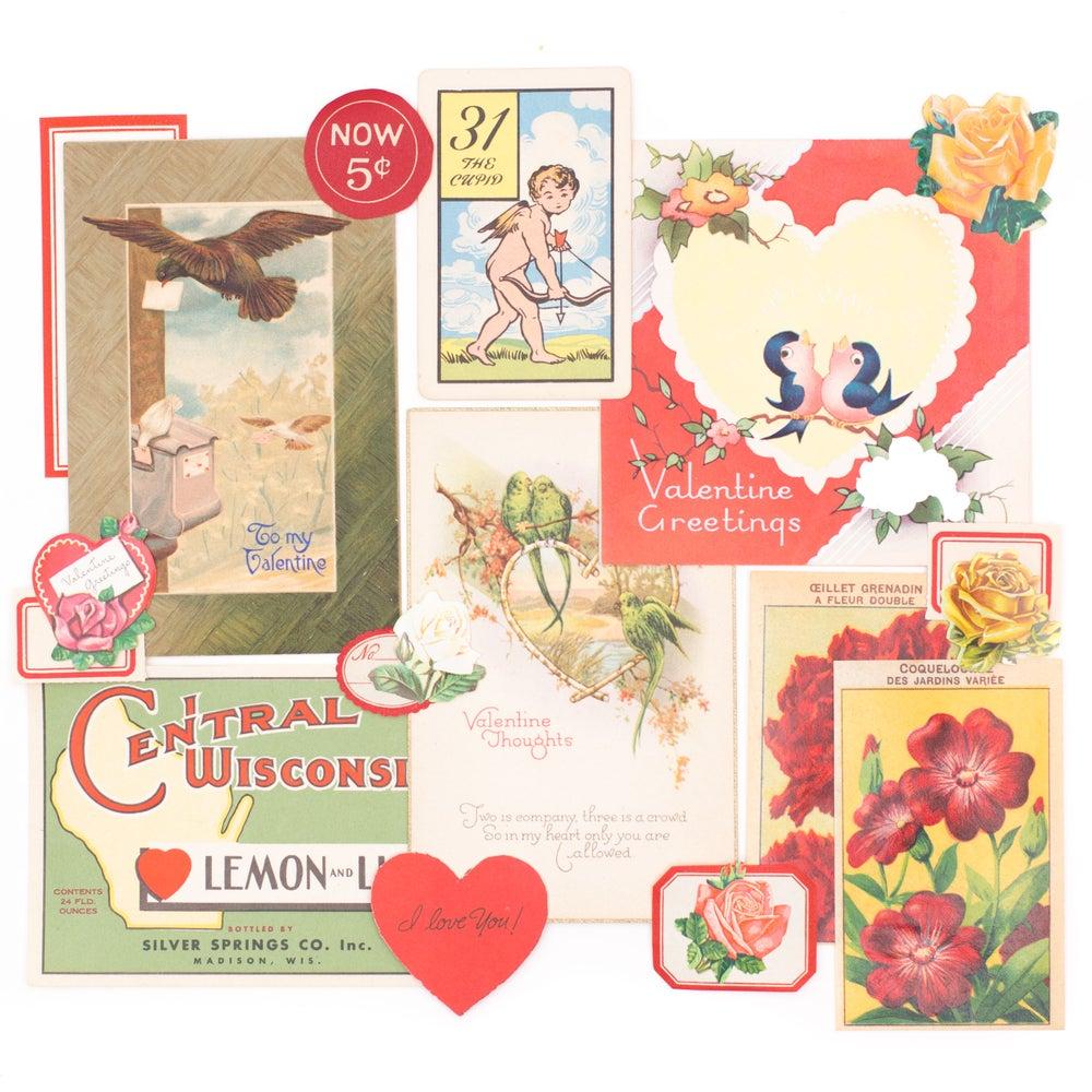 Image of Valentine's Day Ephemera - Birds and Blooms