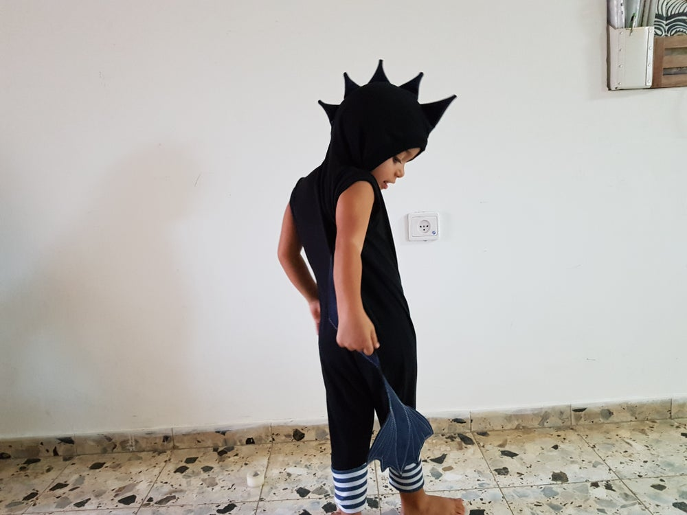 Image of Black dragon summer suit אוברול קיץ דרקון שחור