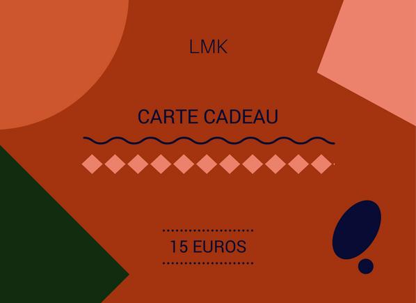 Image of CARTE CADEAU 15 EUROS