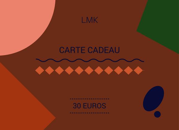 Image of CARTE CADEAU 30 EUROS