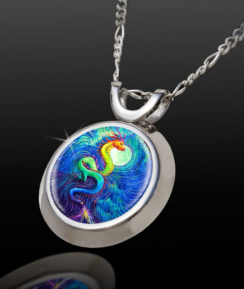 Image of Dragon's Moon Channeled Energy Pendant