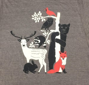 Image of Forest Friends Tri-Coffee T-Shirt