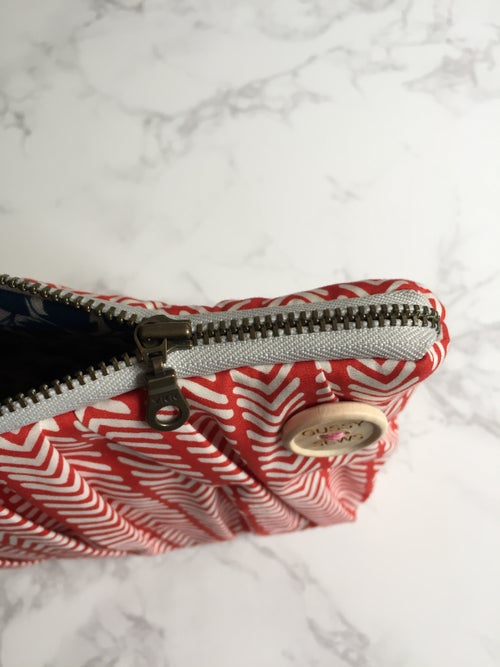 Image of CUSTOM large zip pouch