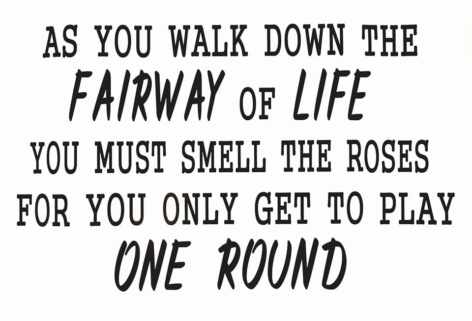 Image of As you walk down the Fairway of Life...