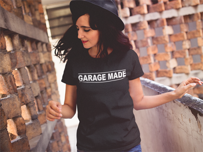 Image of Garage Made Tee Black