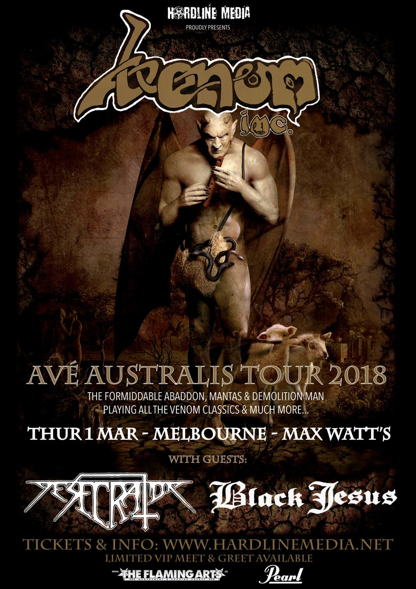 Hardline media venom inc ticket vip melbourne max watts hardline media venom inc ticket vip melbourne max watts thurs 1 mar 2018 kristyandbryce Images
