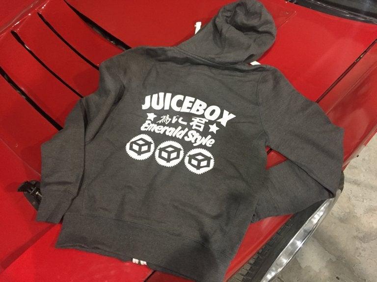 """Image of Juicebox """"Emerald Style"""" Hoodie Charcoal Grey"""