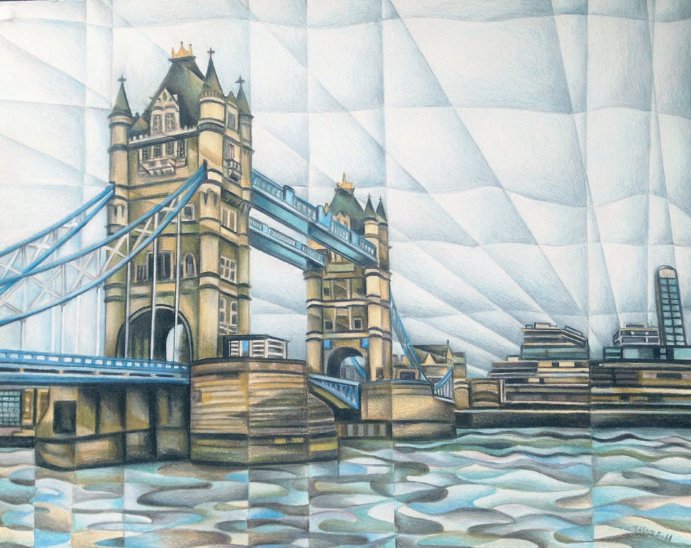 Image of Tower Bridge- Large Canvas Print