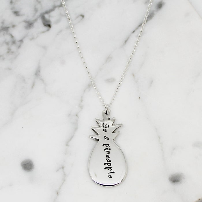 Image of Personalised Pineapple Sterling Silver Necklace