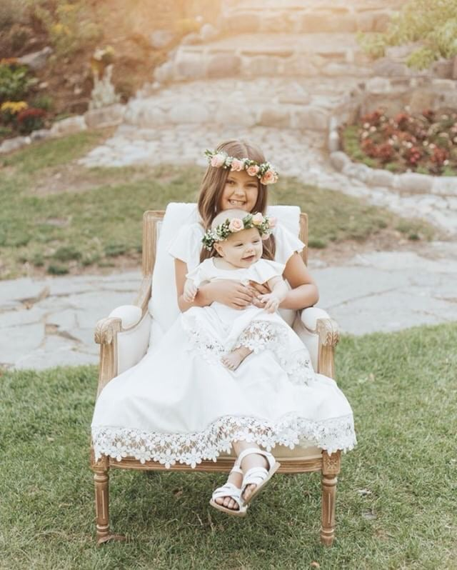 Image of Girls White Special Day Twirly Dress
