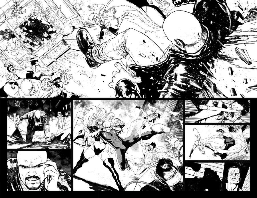 Image of DEFENDERS #9, p.10-11 ARTIST'S PROOF