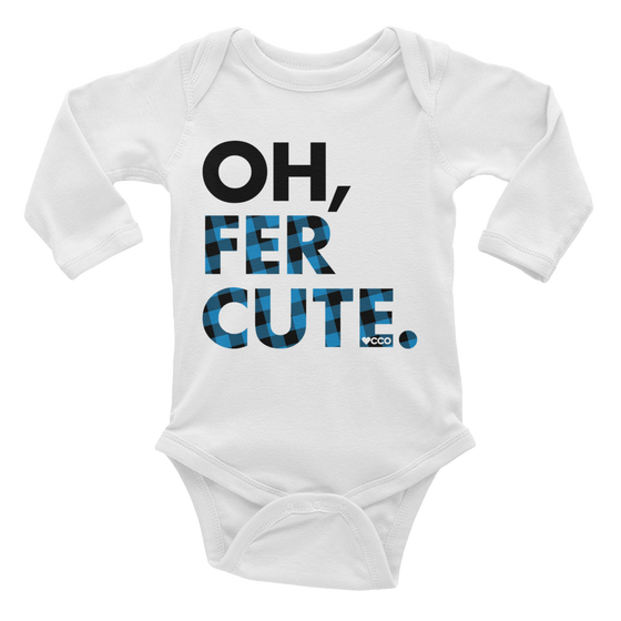 Image of Oh, Fer Cute Long Sleeve Onesie