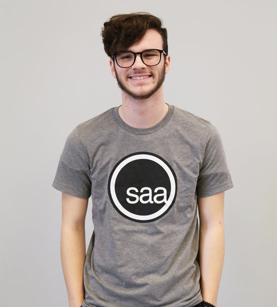 Image of SAA Heather Grey Tri-blend Tee
