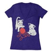 Image of Women's Kittens Tee VNeck