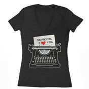 Image of Women's Brooklyn Typewriter VNeck