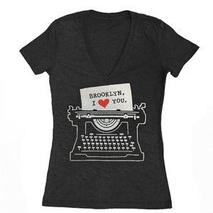 Image of Women's Brooklyn Typewriter VNeck