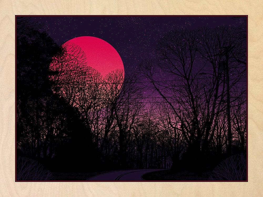 Image of Super Blue Blood Moon - WOOD PANEL