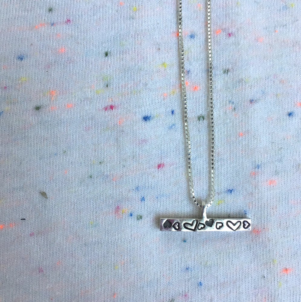 Image of T bar necklace