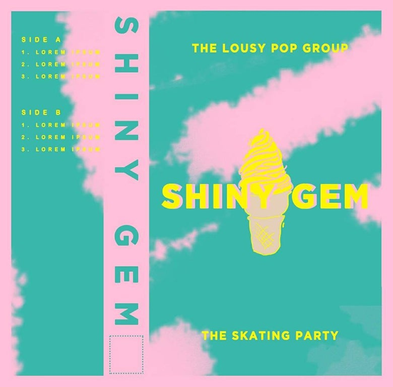 Image of Shiny Gem - the Skating Party/the Lousy Pop Group - Split Cassette