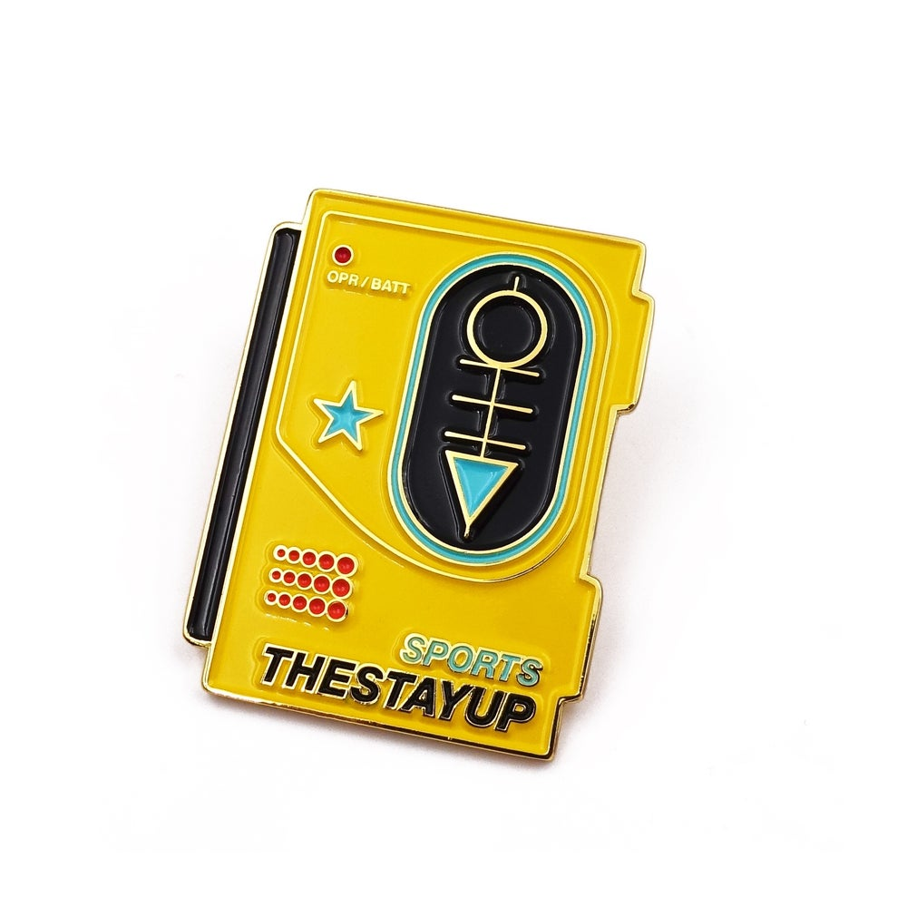 "Image of The Stay Up ""Walkman"" Enamel Pin"