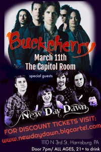 Image of TICKET FOR BUCKCHERRY & NEW DAY DAWN