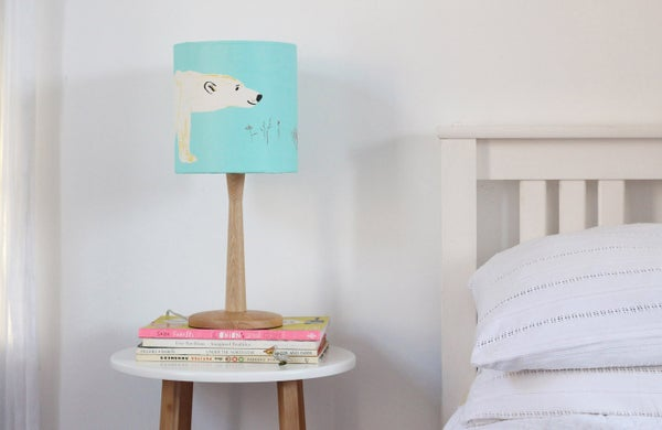 Image of Polar Bear screen printed lampshade