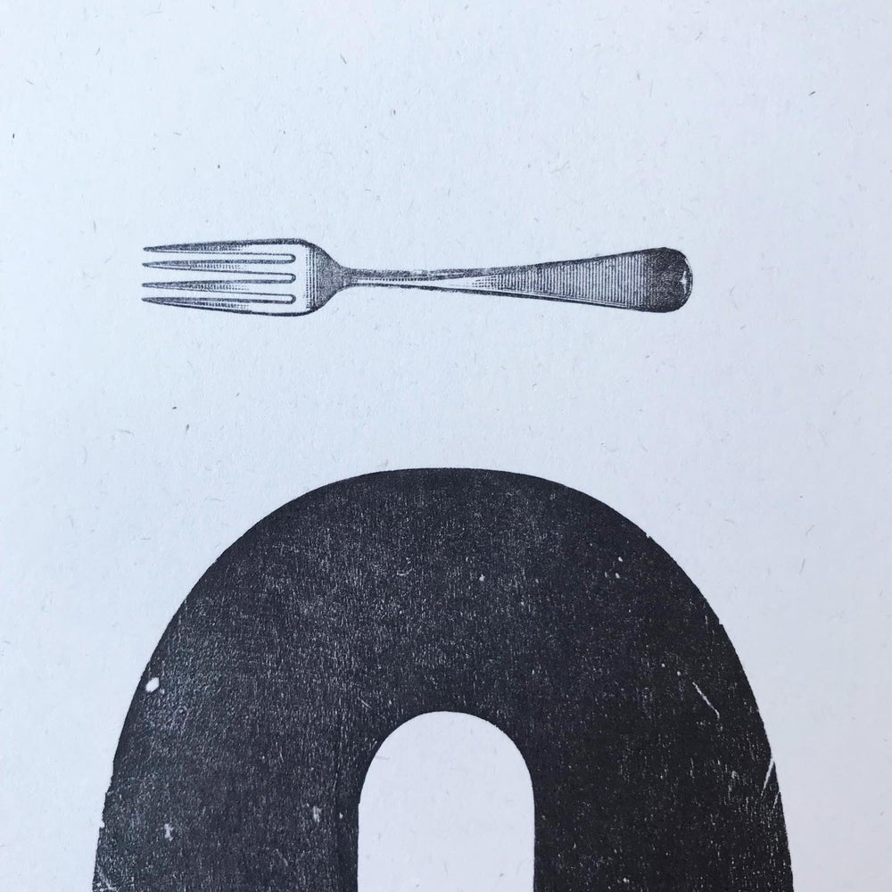 """Image of """"Fork Q"""" print by Hooksmith Press"""