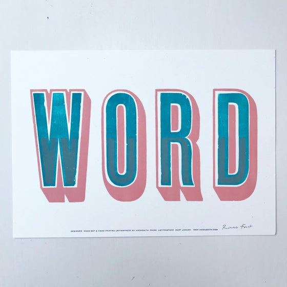 "Image of ""Word"" print 2 by Hooksmith Press"