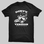 Image of Dirty Version Records T-Shirt - Black Tee