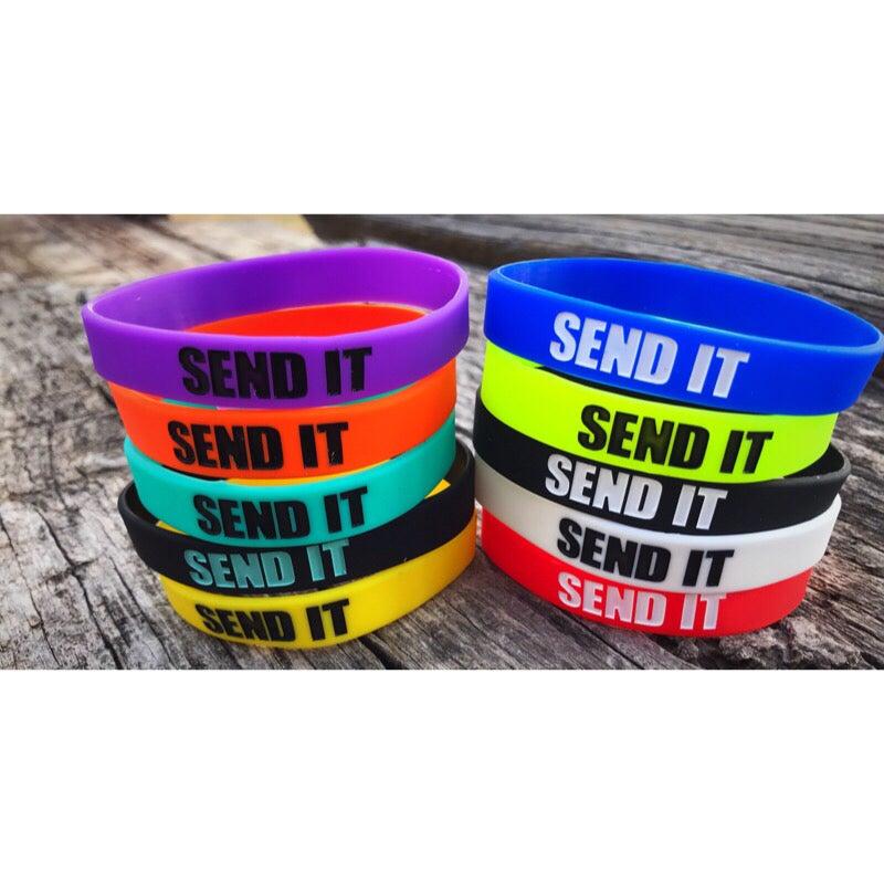 Image of SEND IT Rubber Band Bracelets