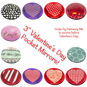Image of Valentine's Day Pocket Mirrors