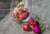 Image of Rosé All Day Stemless Wine glass + 20 Rosé infused dark chocolate truffles