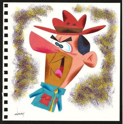 Image of MAD RANGER! RANGER SMITH 8x8 SKETCHBOOK ORIGINAL ART