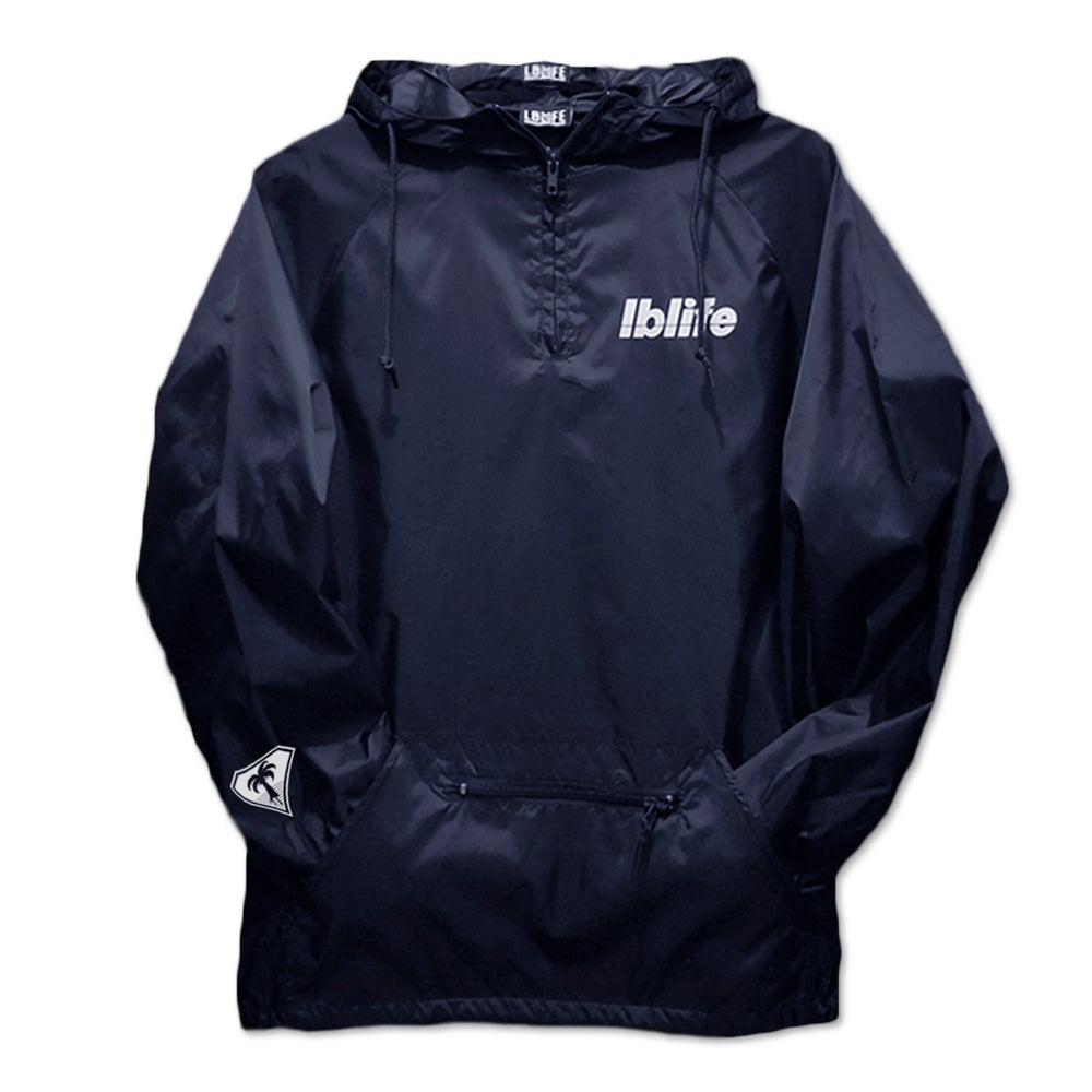 Image of LOWERCASE HIT NAVY PULLOVER WINDBREAKER