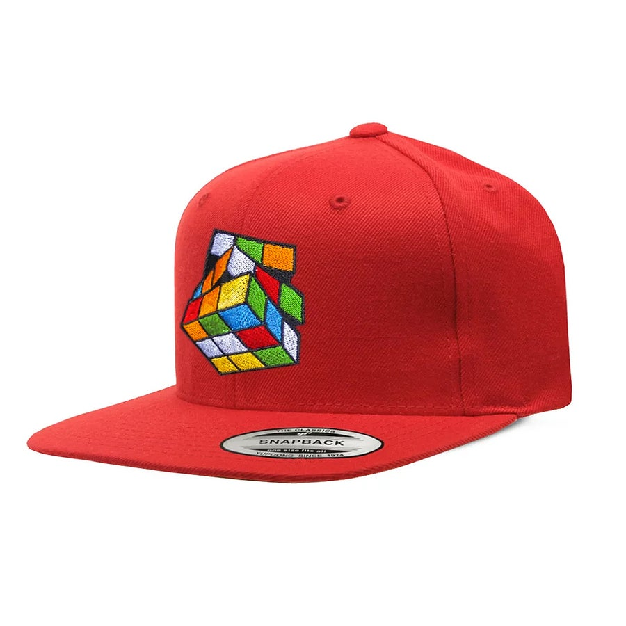 Image of Red Rubik's Snapback
